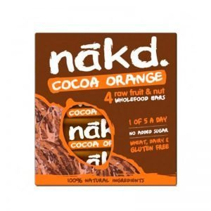 ESTUCHE 4 BARRITAS COCOA ORANGE 35 GR NAKD