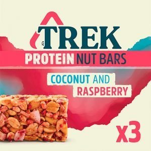 ESTUCHE BARRAS CEREAL COCONUT & RASPBERRY 3 UN TREK